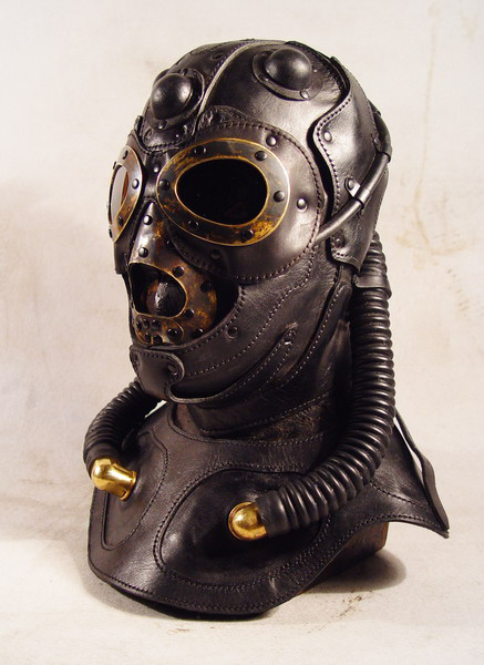 Raptor Pilot Gas Mask – Art Leather Steampunk Mask ...